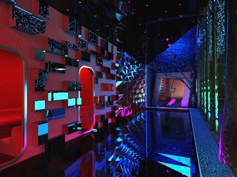 漫步者迪厅效果图方案 课程设计 效果表现 达人室内设计网 找装修找