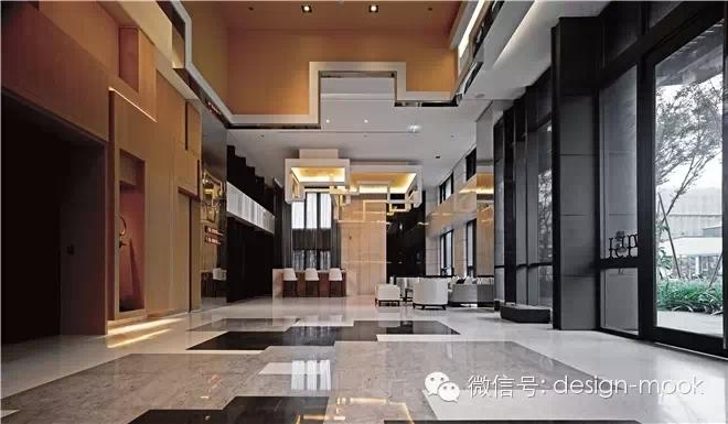 健身房以大片穿透玻璃与大厅场景在空间感官上连成