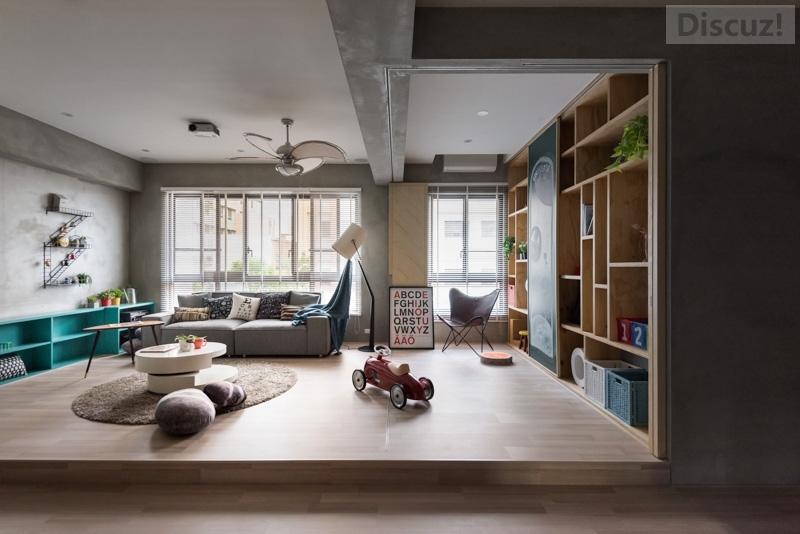 库客设计--水泥花砖工业风住宅