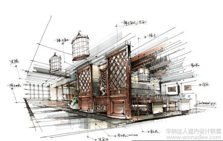 围表现很到位的手绘图 效果表现 达人室内设计网 室内装修软装设计