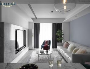 HiDesign嗨设计--灰蓝·台湾167㎡现代简约住宅