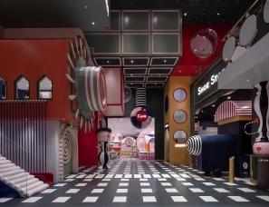 李想设计--MELAND CLUB亲子游乐场~效果图和实拍图对比