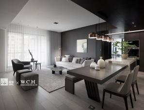 森境设计--朴质现代宅 3房变2房,感情加温坪效倍增