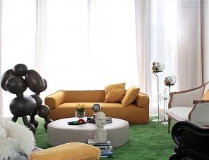 明星御用设计师孟也玩转当代艺术--《艾力枫社》700平米别墅