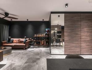 国外暗黑系个性单身公寓设计
