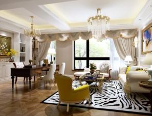 长沙家装-星星-现代客厅-美式客厅