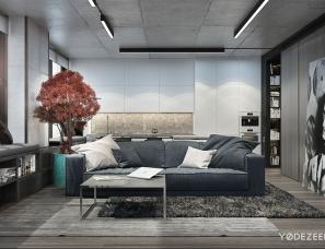 YØDEZEEN设计--基辅的一间小公寓