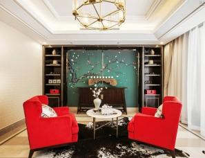 重庆信实装饰设计--永川·中泰海棠壹品别墅样板间D户型