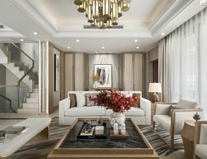 新中式别墅设计,狮子座别墅设计,