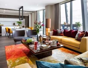 Daniel Hopwood设计--色彩的顶层公寓