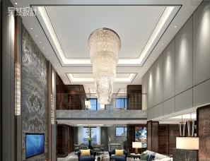 昊然设计--佛山恒大翡翠华庭2901,463㎡顶层复式