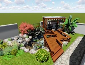 绍兴越城区  大滩6号 花园设计