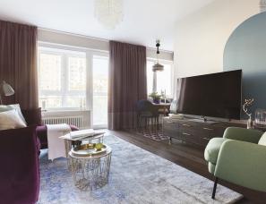 El Born Ilya Gulyants和Ekaterina Alagich设计--莫斯科80㎡公寓
