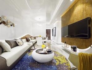 深圳市盘石室内设计--杭州·长龙领航90户型样板房