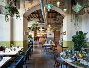 Simone Pullens --荷兰Soulgreen轻工业风餐厅