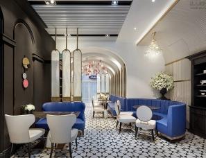 【朗昇设计】莘芙丽咖法式甜品店,优雅空间里的蜜语甜言