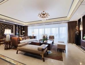 深圳伊派设计--中建江山壹号新东南亚风格样板房