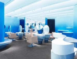 123 architects--置身于海雾和海浪中,北京蓝色迷雾美容院