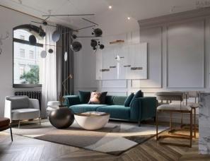 STUDIA 54--艺术格调的华与美,圣彼得堡公寓