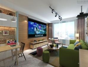 天津-Ghydesign私宅设计-北欧混搭风97平米