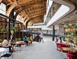 ZGF Architects设计--Google Spruce Goose办公室,开放式工作空间