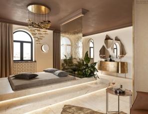 Alena Bulataya--华丽优雅!被金色包裹的spa养生馆