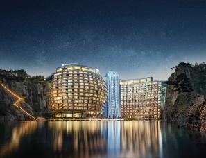 CCD设计--全球海拔最低酒店 | 2018最新送彩金白菜网官网佘山世茂深坑洲際酒店