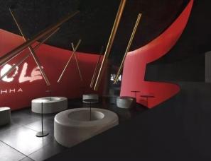 自由思考设计--环形社交空间,佛山摩乐茶