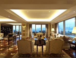 杭州蓝色钱江A2户型新古典风格样板房