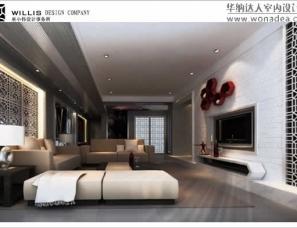 巫小伟给力新中式风格设计 上海复式《荷塘月色》