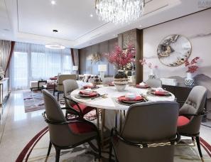 上海天鼓装饰设计--燕西华府63#联排别墅样板间