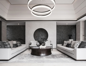 FW.GID国际设计曾建龙--三亚海棠华著ABC户型别墅样板间