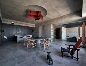 玮奕国际设计--蓝眼公寓