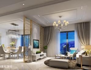 广州翰霖院深化——客厅,卧室效果图