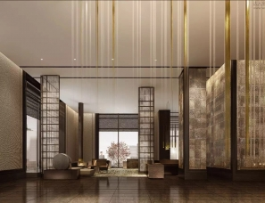 CCD--陕西西安中晶契弗利酒店大堂和全日制餐厅效果图