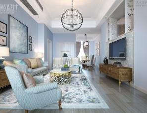 昊然设计--金域中央叠院美墅202/175平方住宅