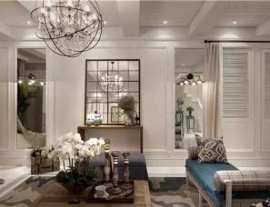 【上海飞视装饰设计张力作品】157㎡典雅蓝白住宅,演绎...