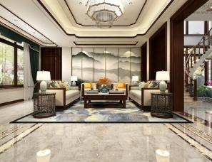 圣点装饰工程郭超设计--新中式别墅方案