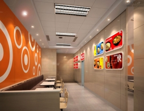 快餐厅设计案例效果图