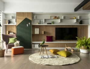 德沃设计--台中彩色H宅