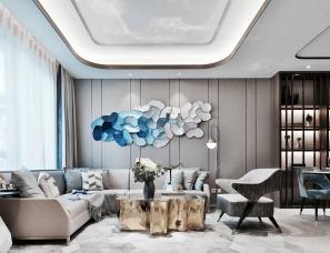 上海集艾设计--天津实地海棠雅著联排别墅