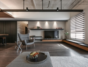 A Palette Of Wood, Metal, And Concrete