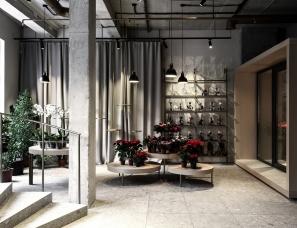 Nottdesign--120㎡乌克兰Five Flowers花店