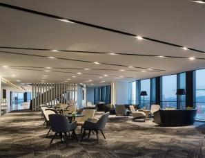广州名艺佳装饰设计--超甲级写字楼以及公寓为一体展示空间