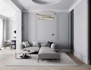 QUADRO ROOM--时尚欧美风高级灰住宅设计