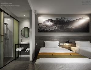 空与间建筑摄影:宽窄巷城市客栈 | 朱志康空间设计