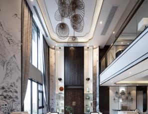 伊派设计-琴棋书画,诗酒花茶——新中式别墅样板房设计