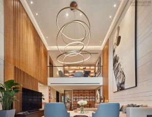 深圳方界设计 --复式大挑空,香山美墅