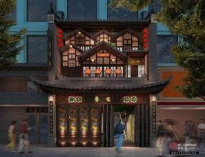 明烨天空-繁楼餐厅效果图表现项目