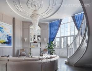 【尺子室内设计】蓝色郡城 | 道不尽的优雅与品质